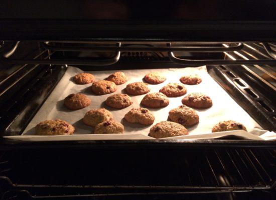 In de oven!