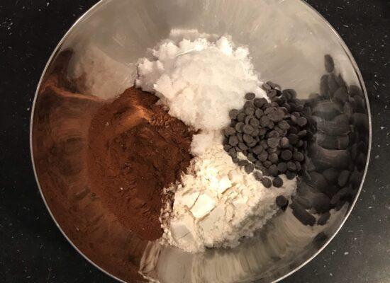 Bakmix Chocolade Cake ingredienten